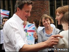 David Cameron meeting voters