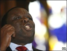 Morgan Tsvangirai in London (21.06.2009)