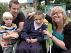 Megan with brother Joshua, father Lee and mother Natalie (picture: dailypost.co.uk)