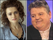Helena Bonham Carter and Robbie Coltrane