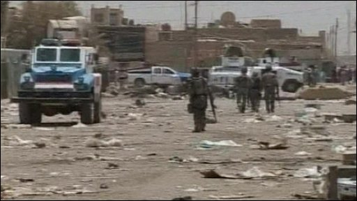 Scene of attack in Shaab