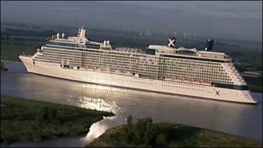 The cruise ship will be officially named in Southampton