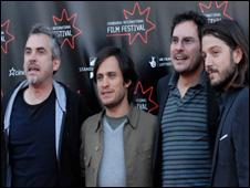 Alfonso Cuaron, Gael Garcia Bernal, Carlos Cuaron and Diago Luna