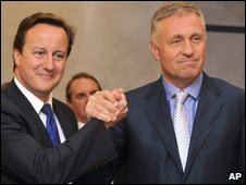David Cameron and Mirek Topolanek