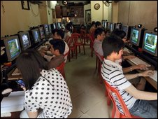 Vietnamese cyber cafe, AFP