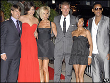 Tom Cruise, Katie Holmes, Victora and David Beckham, Jada Pinkett Smith and Will Smith