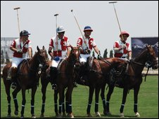 Polo players in Shanghai