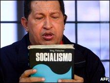 President Hugo Chavez seen speaking on 18 June