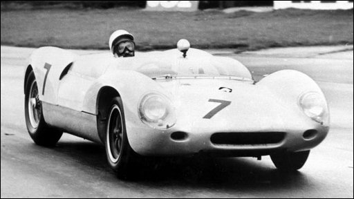 Stirling Moss driving a Lotus sports car 01/05/63