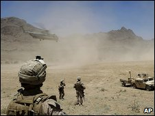 US Marines in Farah province (11.6.09)