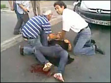 A photo showing Neda Agha Soltan dying in Tehran on 20 June 2009