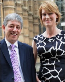 John Bercow and wife Sally