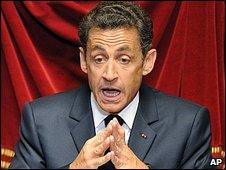 Nicholas Sarkozy. Image via BBC.
