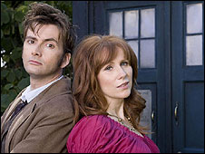David Tennant and Catherine Tate as Dr Who and sidekick