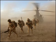 Soldiers from the Black Watch in Afghanistan (file pic)