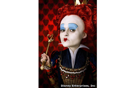 Helena Bonham Carter plays the Red Queen