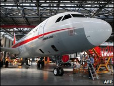 The first Airbus plane to be built in China