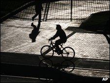 Cyclist in Bogota