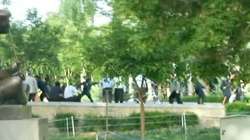 Riots in Esfehan, Iran