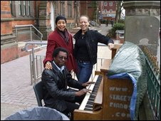 Piano on a street