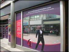 Zavvi Shop Window in Swindon