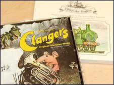 Trunk label's Clangers and Ivor The Engine CDs