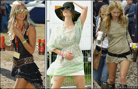 Sienna Miller, Pixie Geldof and Kate Moss