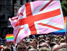 Gay Pride march in London
