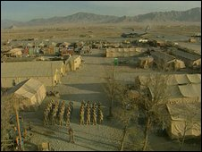 US Bagram base, Afghanistan