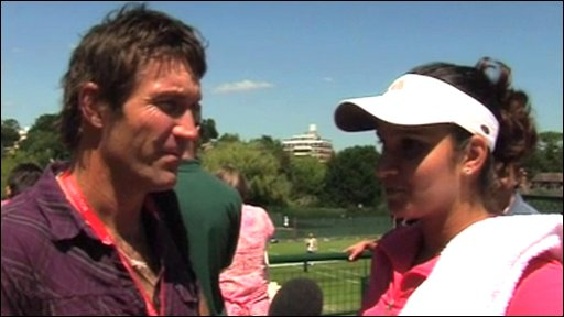 Pat Cash and Sania Mirza
