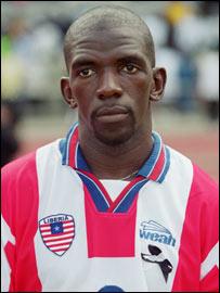 Liberian midfielder Kelvin Sebwe