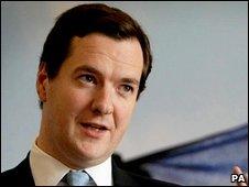 Shadow chancellor George Osborne