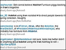 Twitter page about Habitat, 24 June
