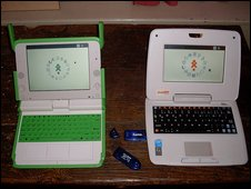 XO laptop and Intel Classmate both running Sugar