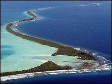 Funafuti Island in Tuvalu