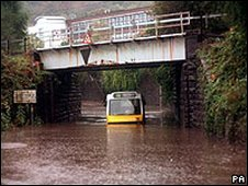 Flooding in Pontypridd