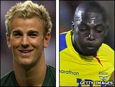 Joe Hart and Giovanny Espinoza
