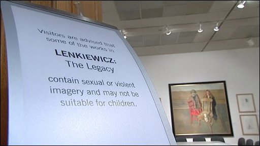 Lenkiewicz exhibition warning