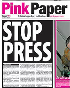 Last paper edition of Pink Paper