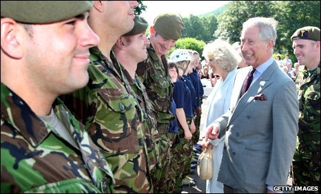 Prince Charles and the Duchess of Cornwall with CCF staff