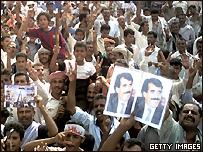 متظاهرون مؤيدون لانفصال اليمن الجنوبي