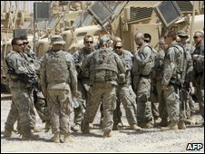 US troops at base south of Sadr City