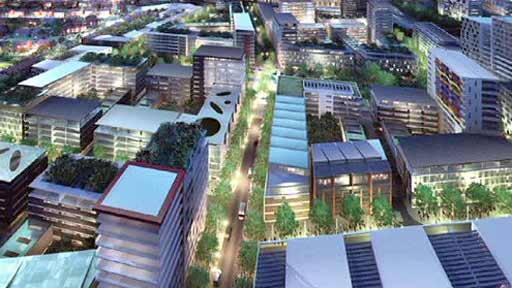 Computer generated image of proposed development