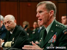 Gen Stanley McChrystal at his confirmation hearing