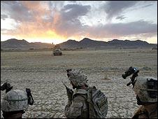 US troops in Afghanistan, June 2009