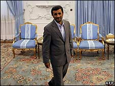 Iranian President Mahmoud Ahmadinejad in Tehran on 24/6/09