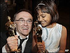 Slumdog director Danny Boyle and actress Rubiana Ali