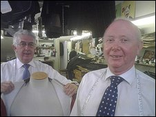 Michael Smith and John McCabe from Bernard Weatherill tailors
