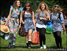 Glastonbury arrivals