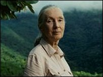 Dr Jane Goodall, Primatologist, and founder of the Jane Goodall Institute